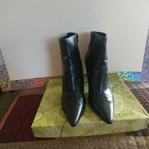 Alberta 4 in. Ankle Boots with side zipper.